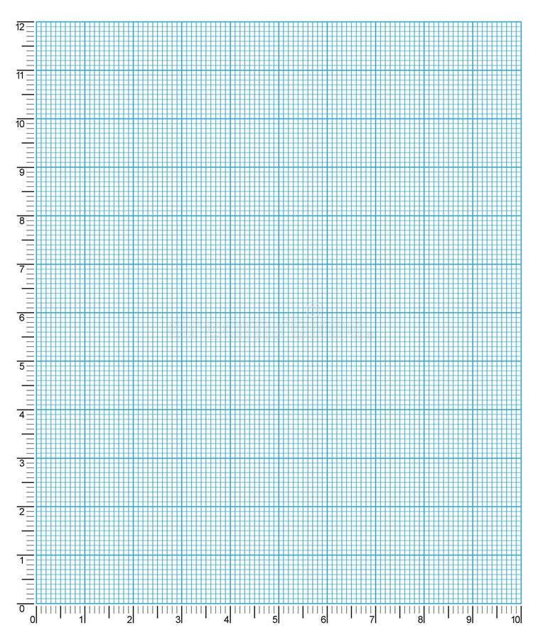 Papel de gráfico milímetro da engenharia ilustração royalty free