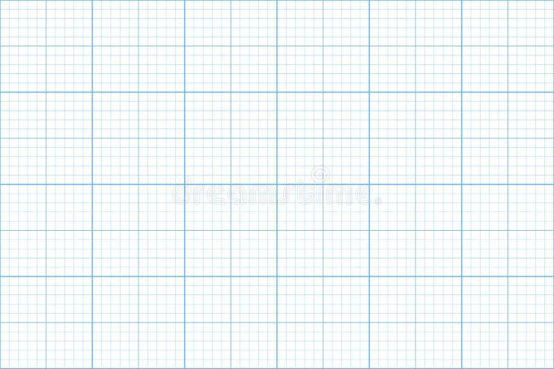 Papel de gráfico Teste padrão sem emenda backgound do arquiteto grade do milímetro Vetor ilustração royalty free