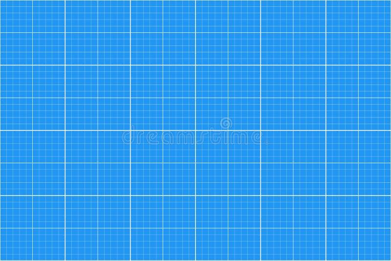 Papel de gráfico Teste padrão sem emenda backgound do arquiteto grade do milímetro Vetor ilustração stock