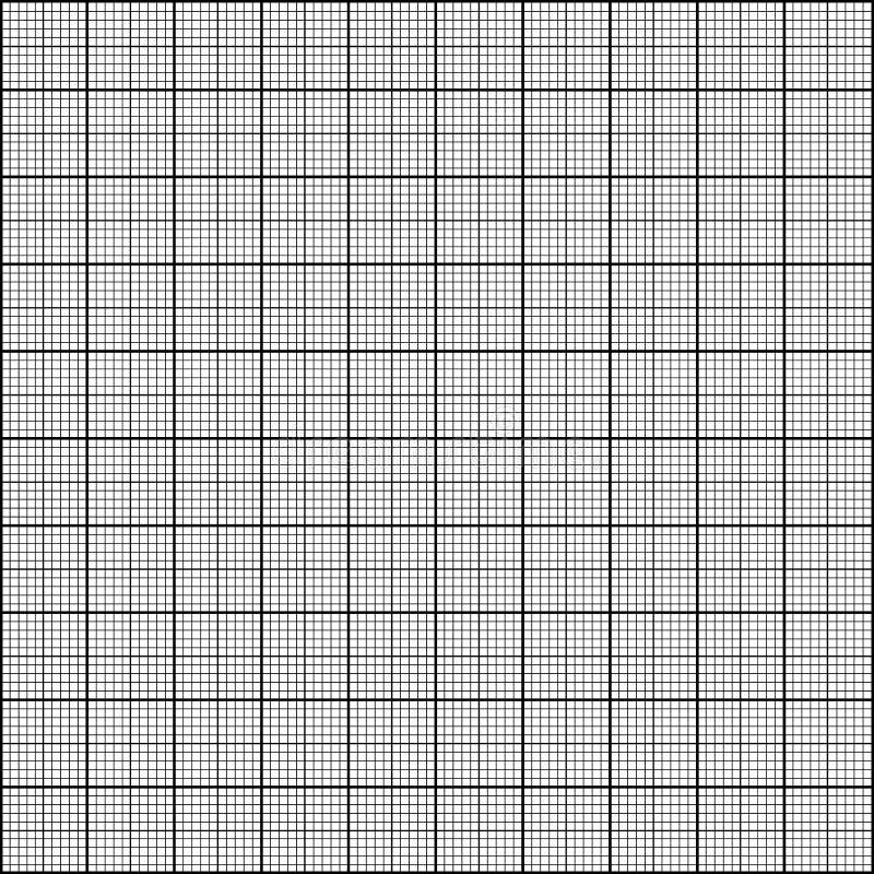 Papel de gráfico - teste padrão sem emenda sobre o fundo branco - ilustração do vetor ilustração do vetor