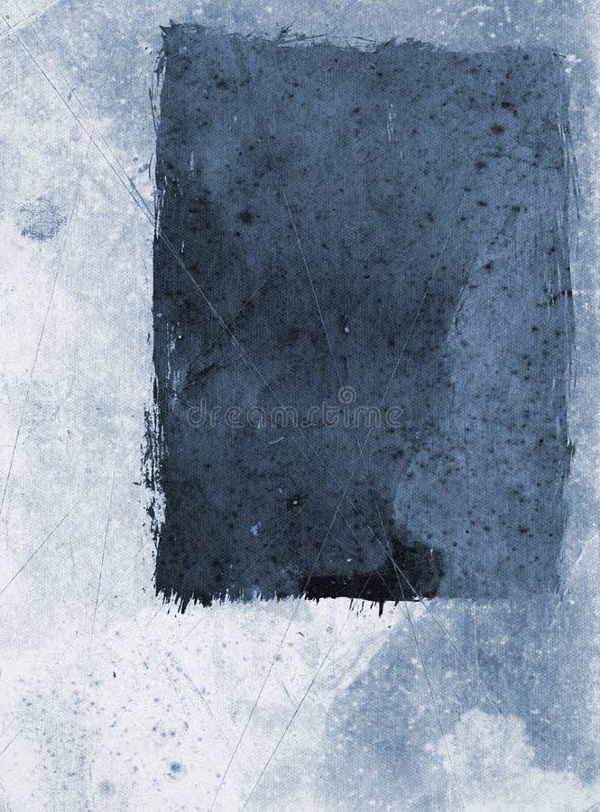 Papel de Grunge - azul ilustração do vetor