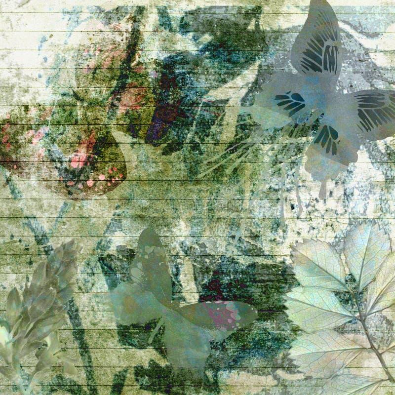 Papel de Grunge da floresta do pinho ilustração royalty free