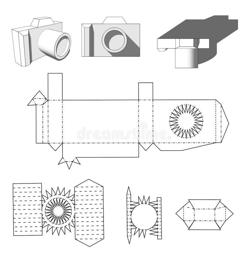 Papel de la cámara Cámara de papel de los cortes para su ilustración del vector