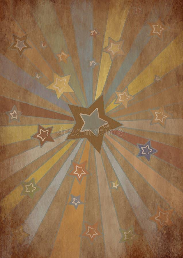 Papel de la estrella de Grunge stock de ilustración