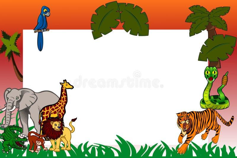 Papel de la fauna stock de ilustración