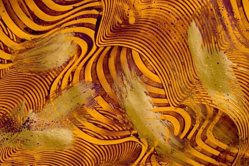 Papel de la goma: Púrpura y oro imagenes de archivo