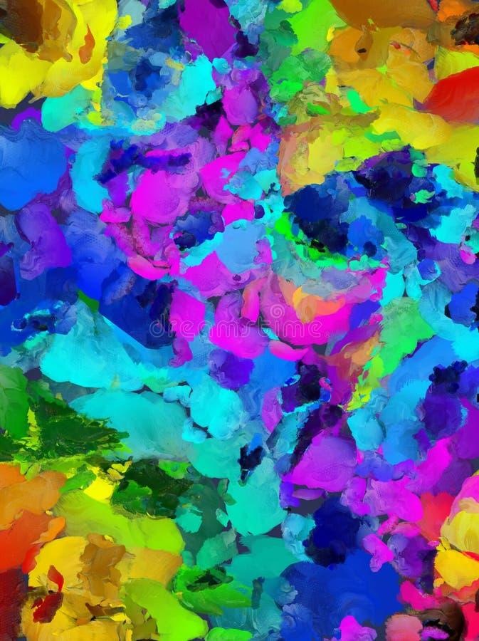 Papel de la goma: Remolinos púrpuras, azules, y del negro stock de ilustración