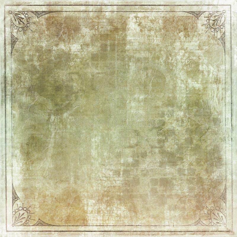 Papel de la vendimia con el marco fotografía de archivo libre de regalías