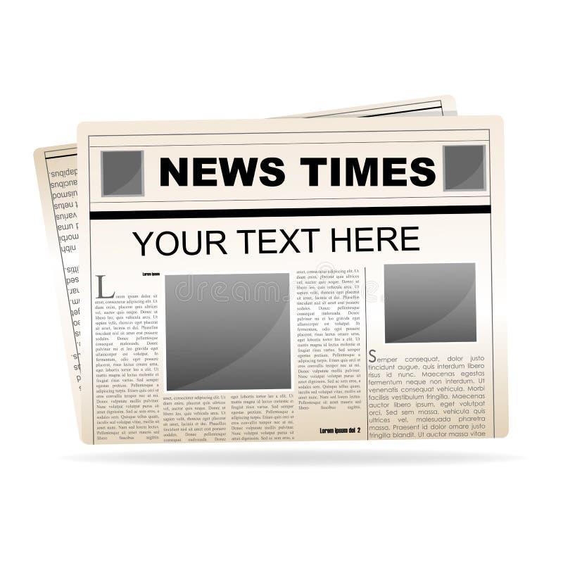 Papel de las noticias libre illustration