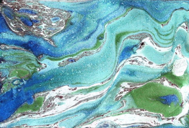 Papel de mármol Textura de mármol de la tinta stock de ilustración