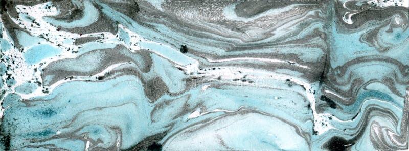 Papel de mármore Textura de mármore da tinta ilustração do vetor