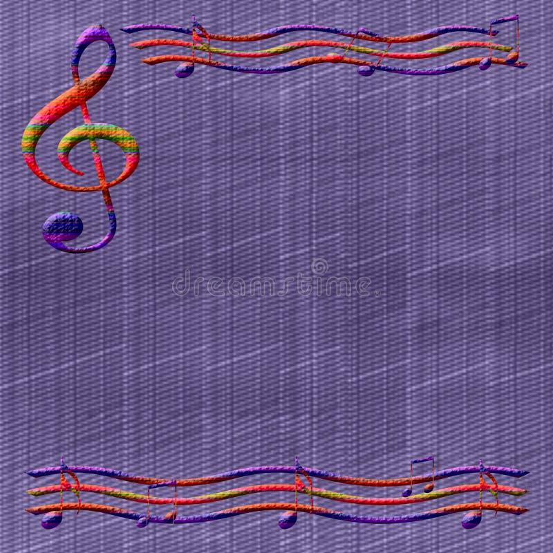 Papel de música ilustração stock