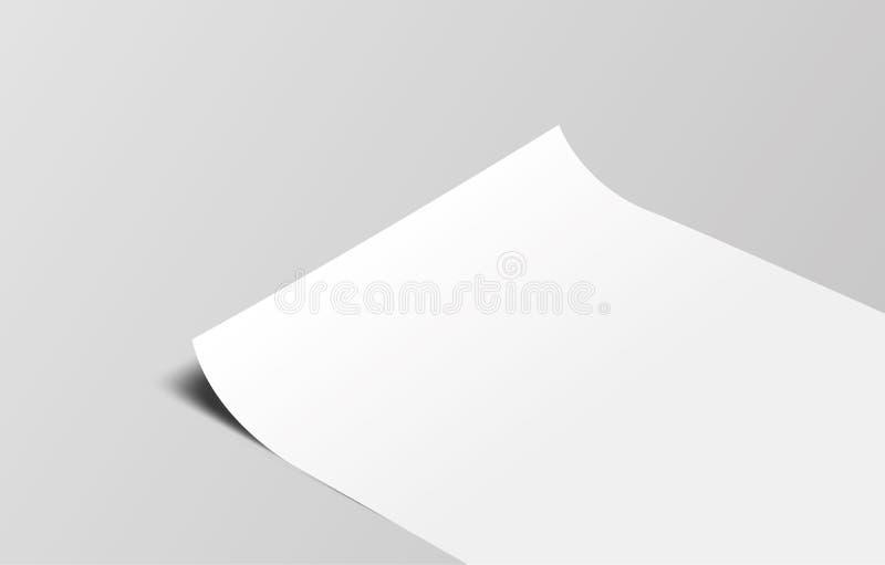 Papel de marcagem com ferro quente da ilustração do vetor no fundo cinzento fotos de stock royalty free