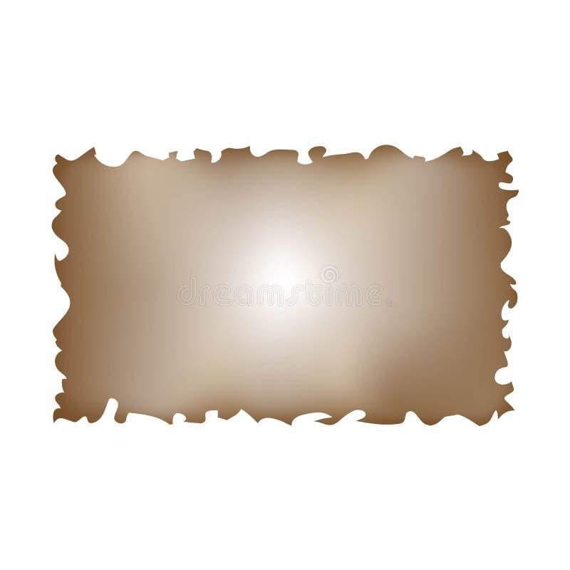 Papel de marrón viejo simple del pergamino ilustración del vector
