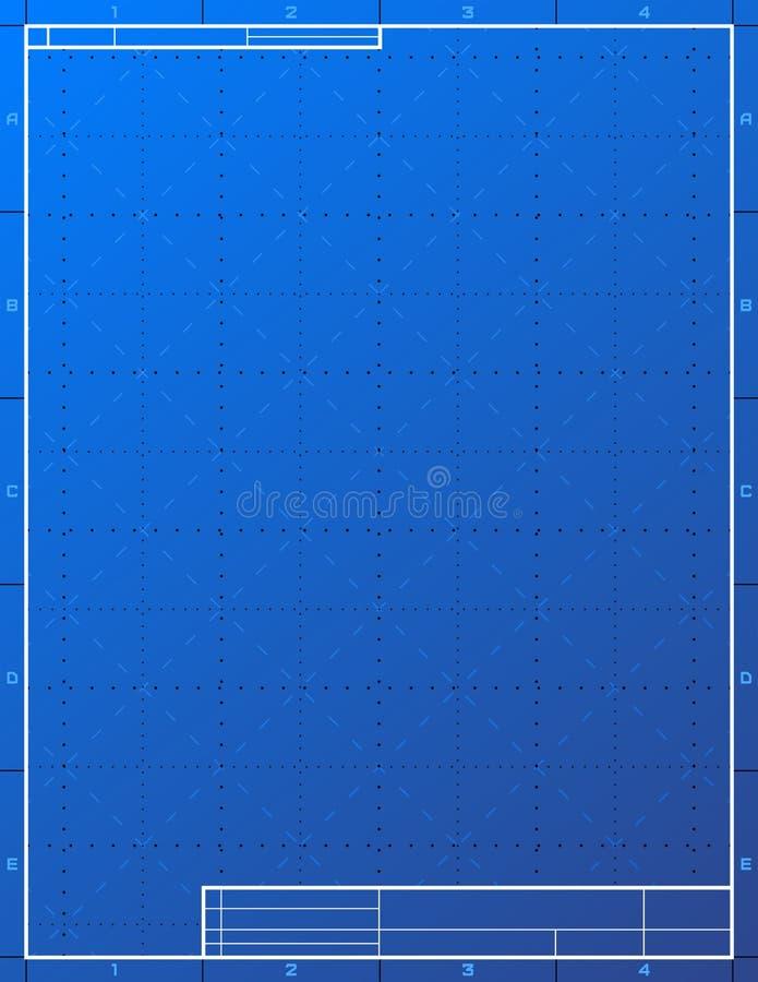 Papel de modelo vazio para esboçar ilustração stock