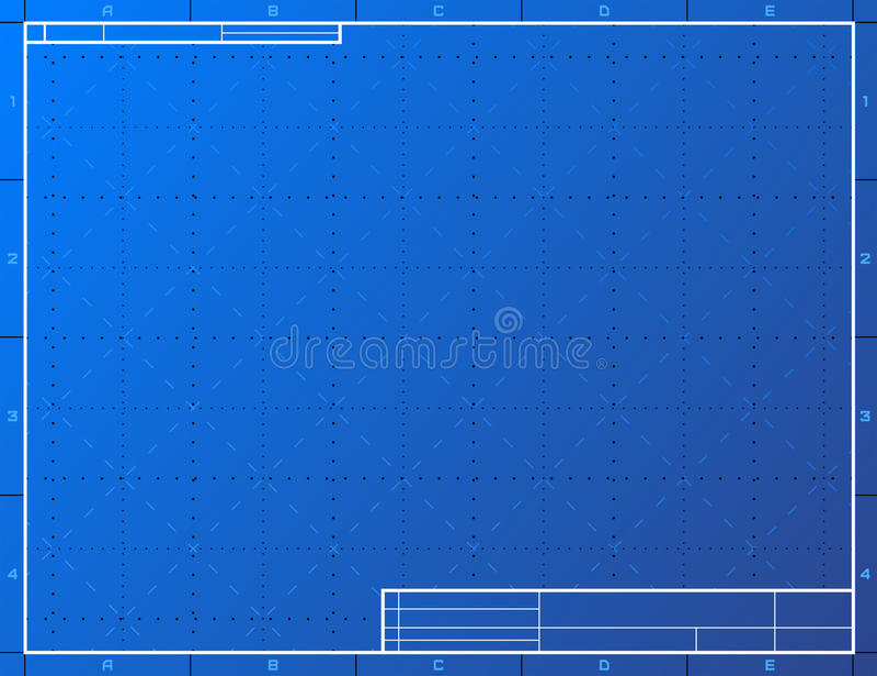 Papel de modelo vazio para esboçar ilustração do vetor