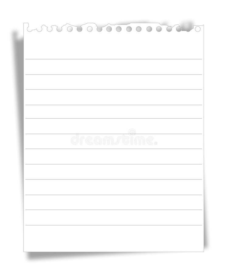 Papel de nota ilustração do vetor