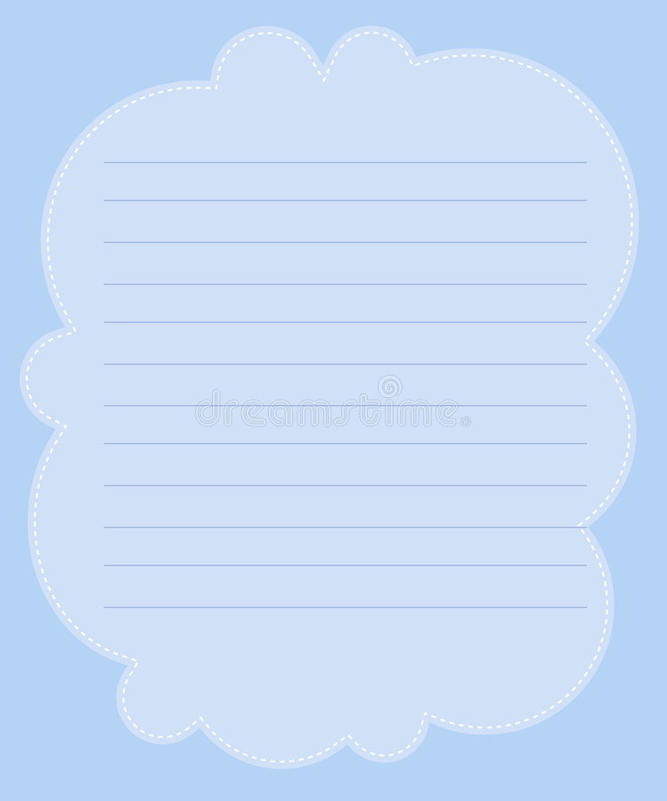 Papel de nota stock de ilustración
