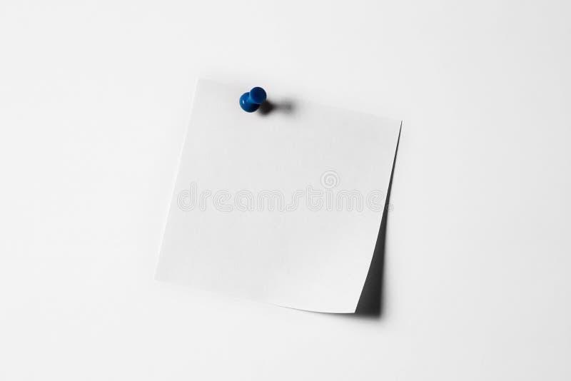 Papel de nota blanco fotografía de archivo