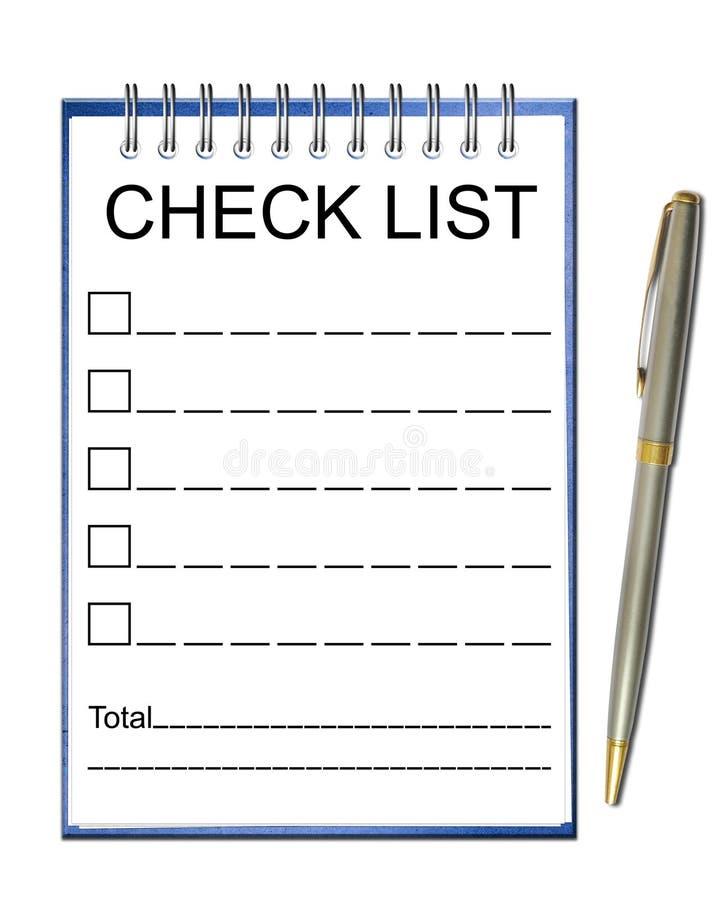 Papel de nota da lista de verificação ilustração royalty free