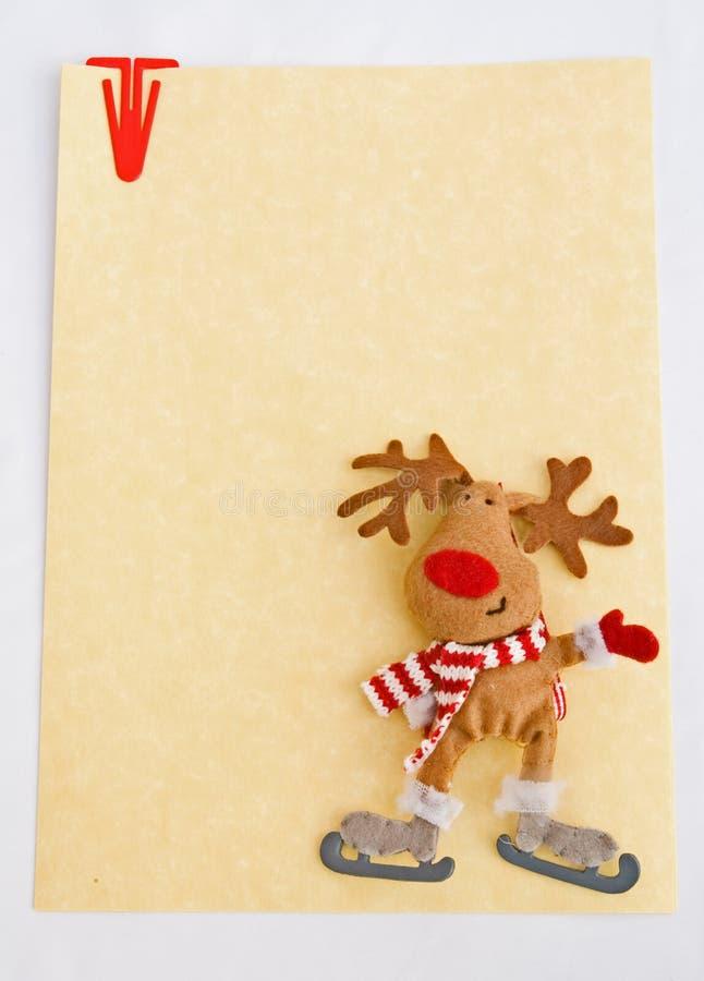 Papel de nota de la Navidad. imagen de archivo