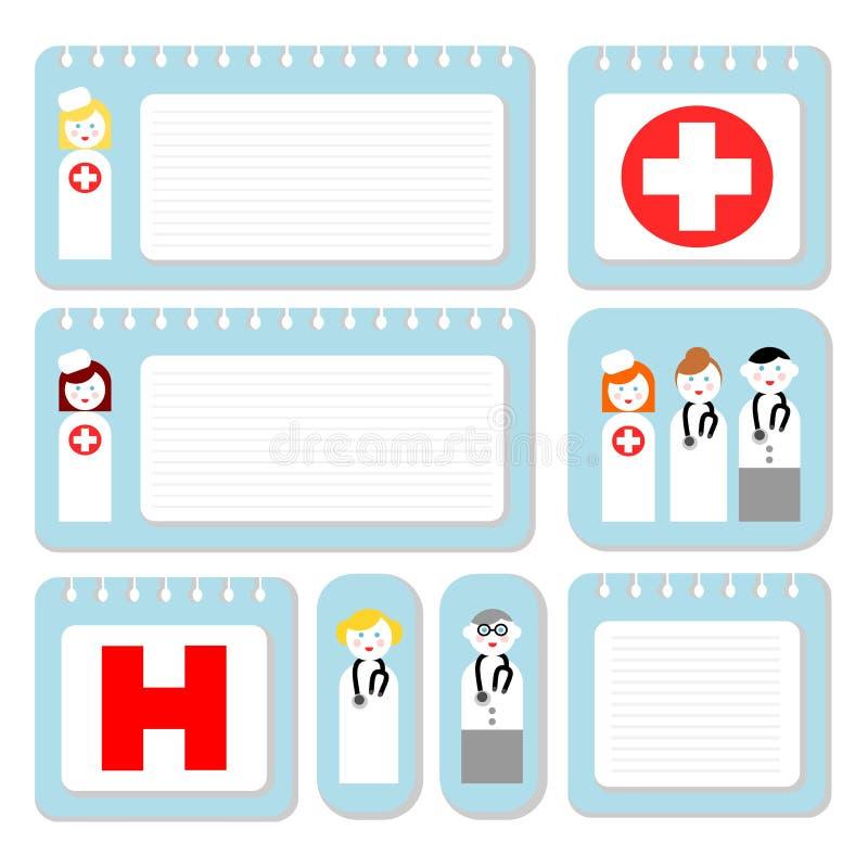 Papel de nota del doctor y de la enfermera libre illustration
