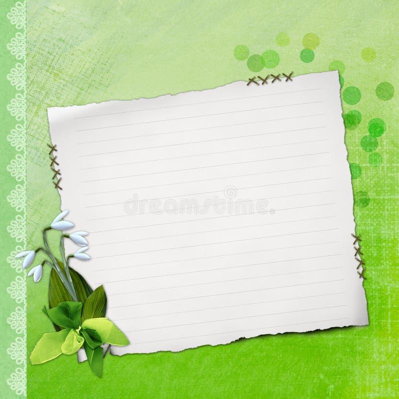 Papel de nota em branco no fundo textured ilustração do vetor