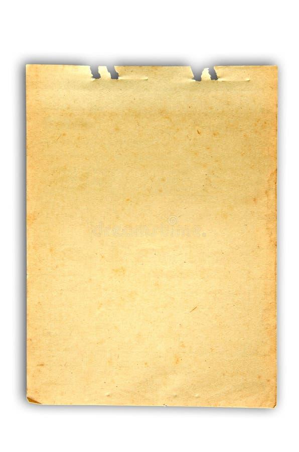 Papel de nota velho foto de stock royalty free