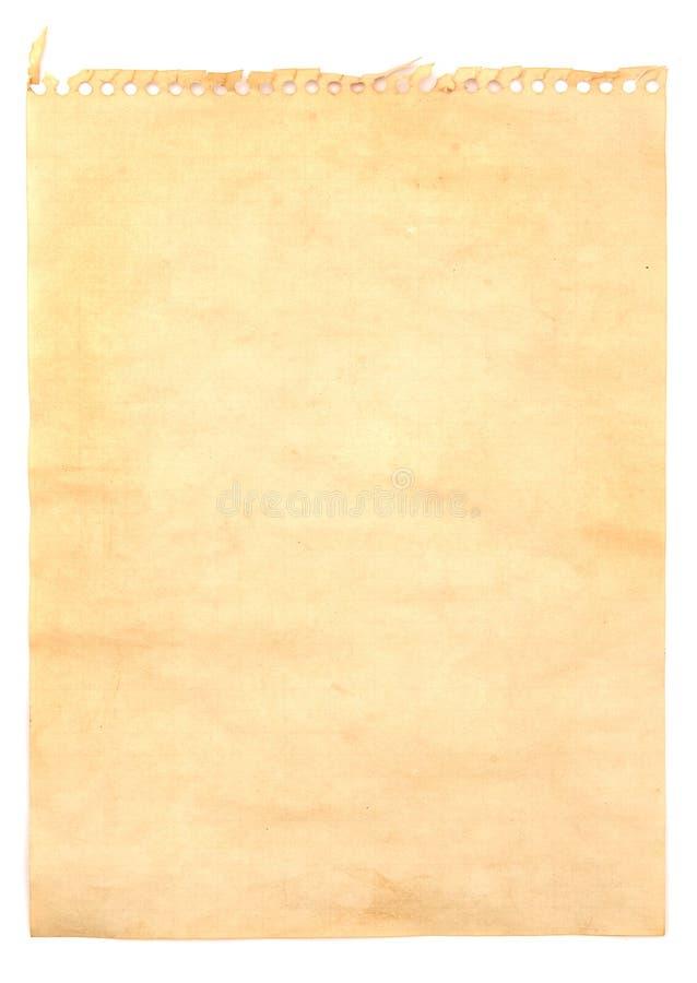 Papel de nota viejo foto de archivo