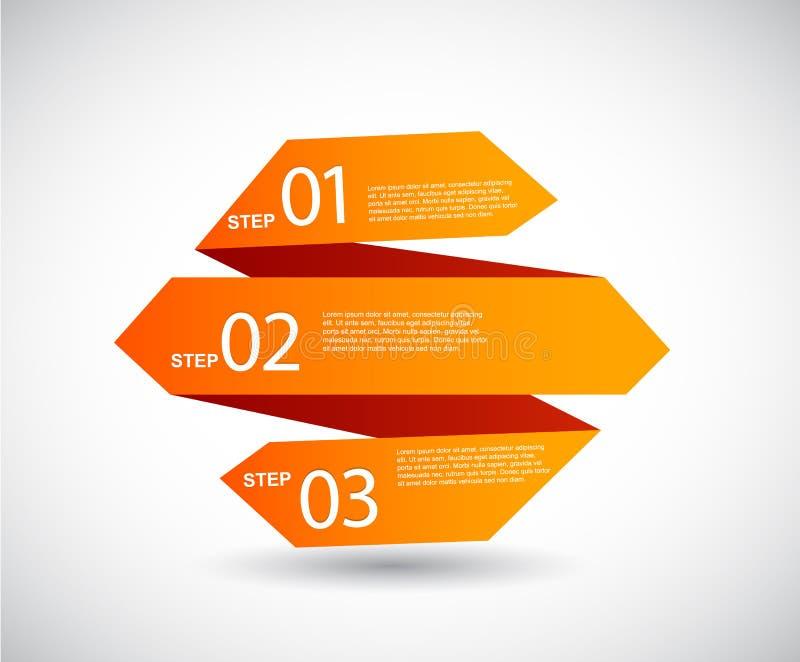 Papel de Origami com lugar para seu próprio texto. ilustração do vetor