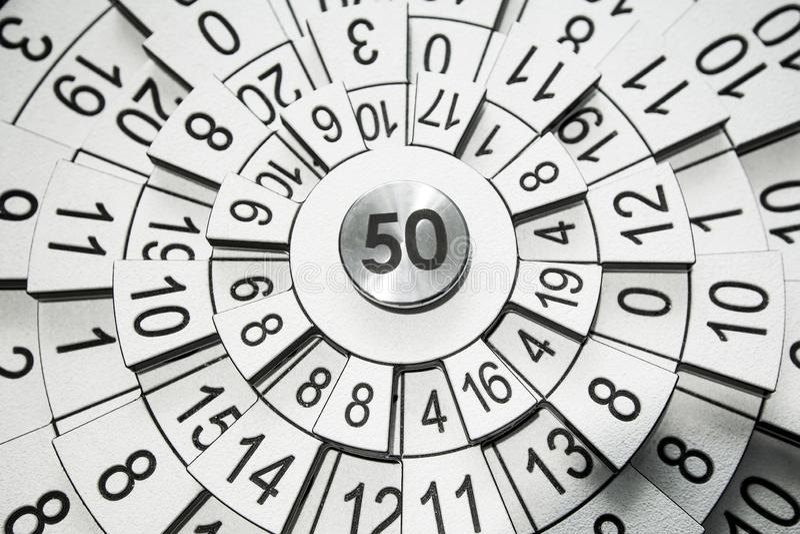 Papel de parede abstrato da numerologia foto de stock