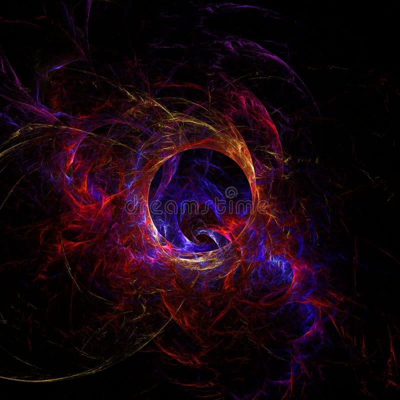 Papel de parede abstrato do fractal com diferente e muitas formas fotografia de stock