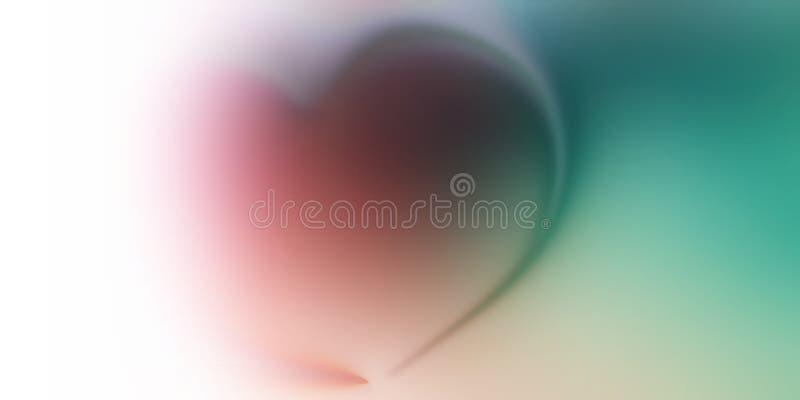 Papel de parede abstrato do fundo do borrão do coração do vetor ilustração stock