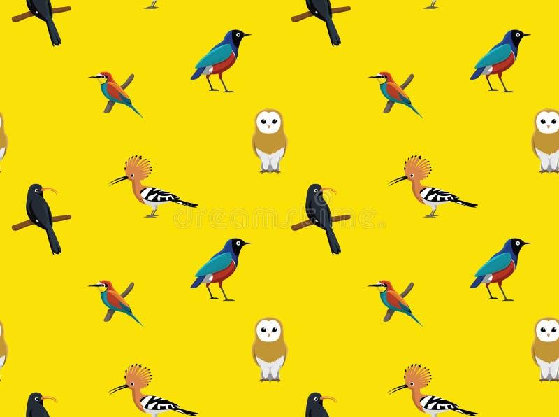 Papel de parede africano aleatório 3 dos pássaros ilustração do vetor