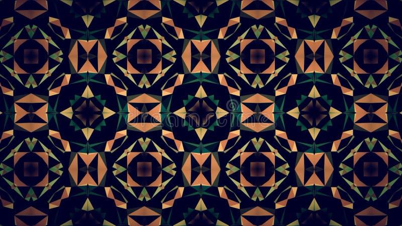 Papel de parede alaranjado abstrato do teste padrão da cor do preto escuro imagem de stock