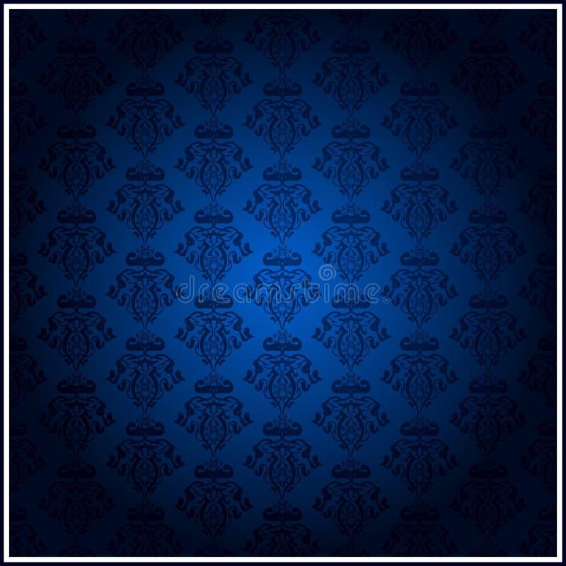 Papel de parede azul ilustração royalty free