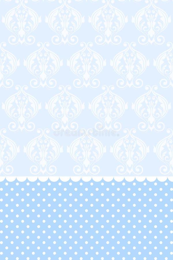 Papel de parede azul ilustração stock