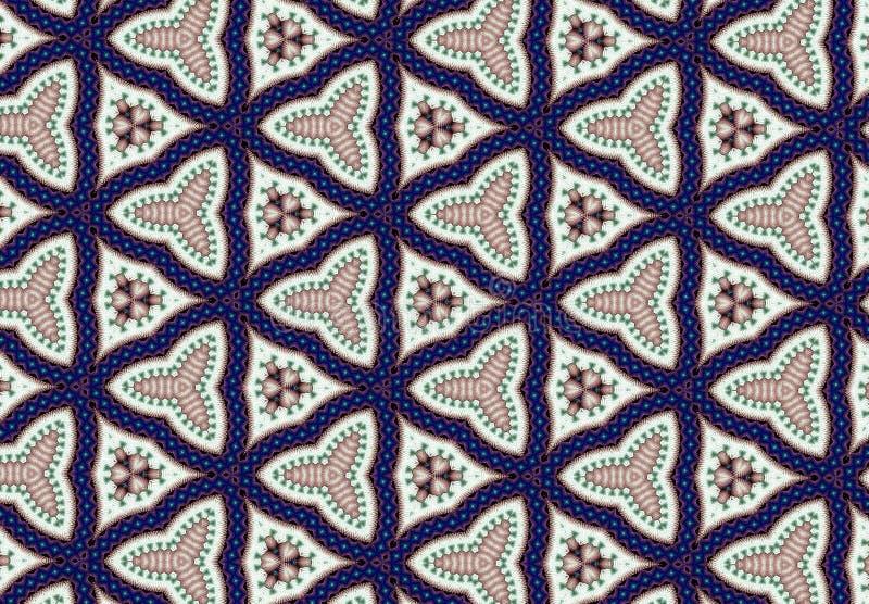 Papel de parede azul abstrato do teste padrão do bloco fotografia de stock