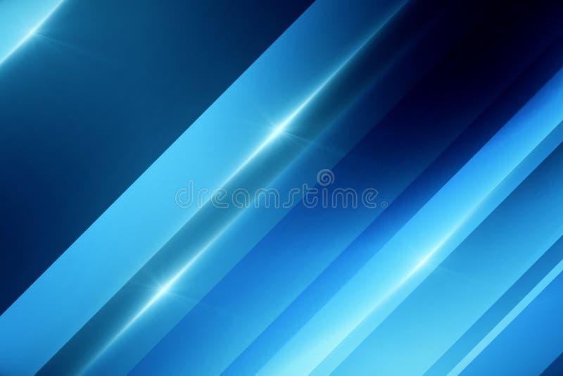 Papel de parede azul digital abstrato ilustração stock