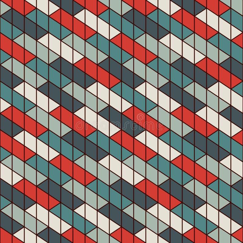 Papel de parede de bloqueio retangular dos blocos Fundo do parquet Projeto de superfície sem emenda do teste padrão com retângulo ilustração do vetor