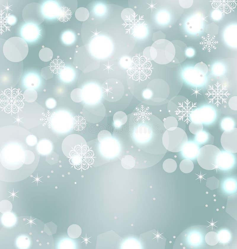 Papel de parede bonito do Natal com faísca ilustração stock