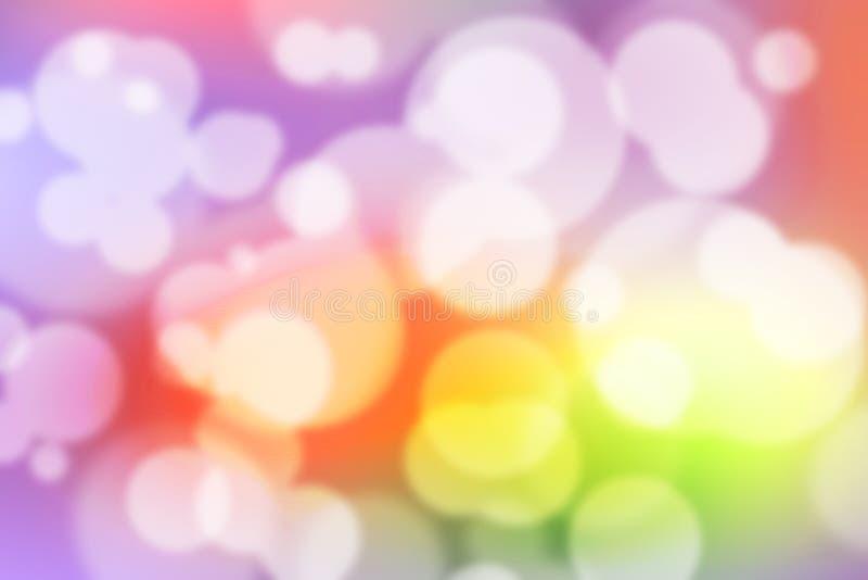 Papel de parede borrado colorido do fundo colorido de Bokeh fotos de stock