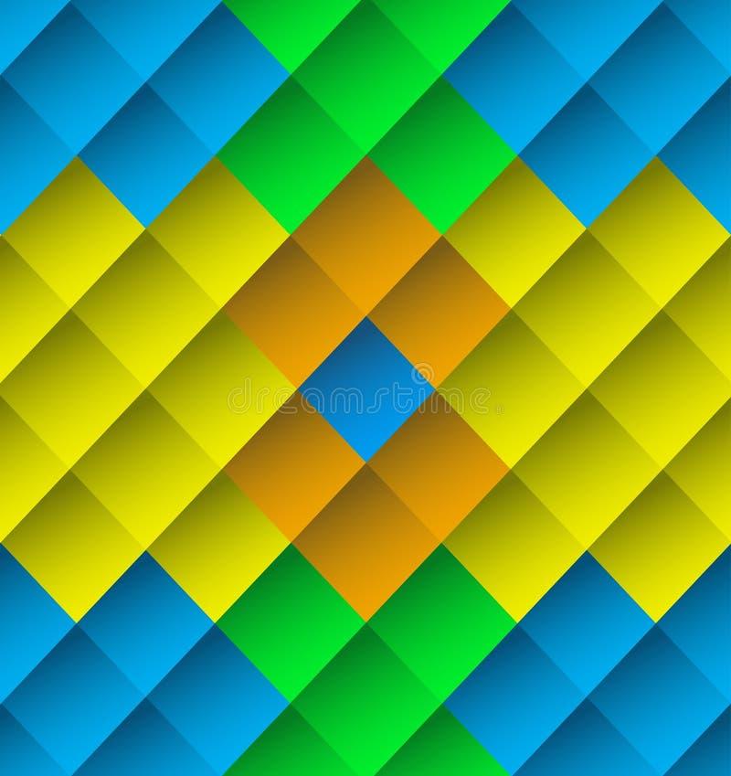 Papel de parede colorido da textura do fundo das telhas das cores ilustração do vetor