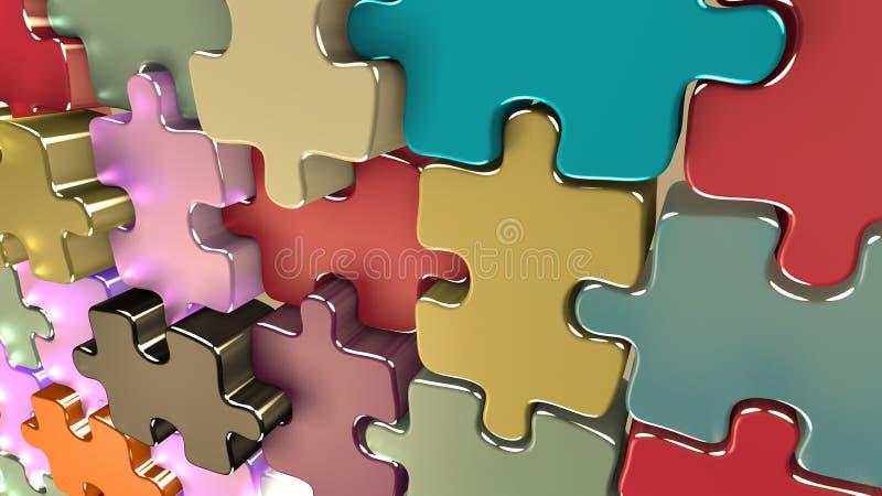 Papel de parede com as partes diferentes que encontram uma harmonia. ilustração stock