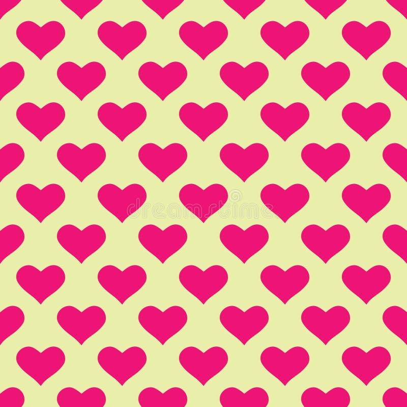 Papel de parede com corações cor-de-rosa ilustração stock