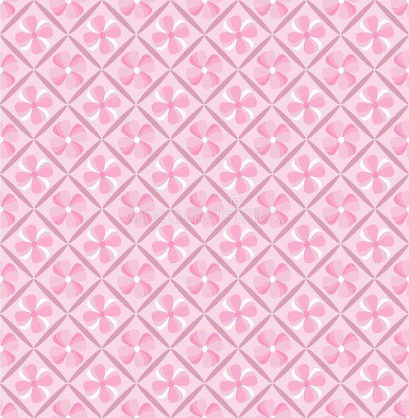 Papel de parede cor-de-rosa da flor ilustração do vetor