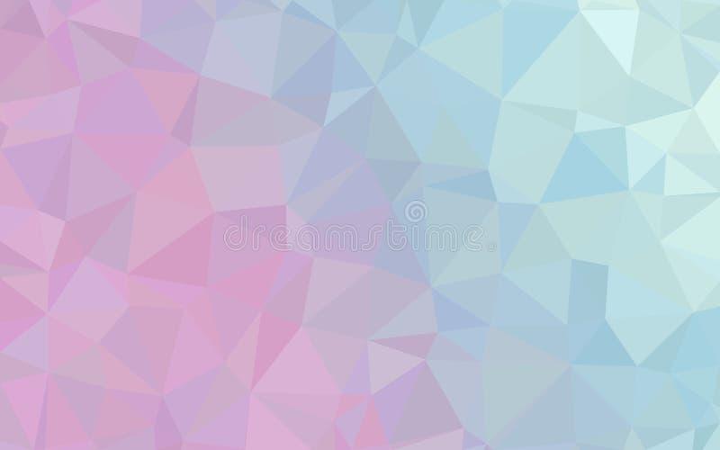 Papel de parede cor-de-rosa azul abstrato do teste padrão do polígono foto de stock royalty free