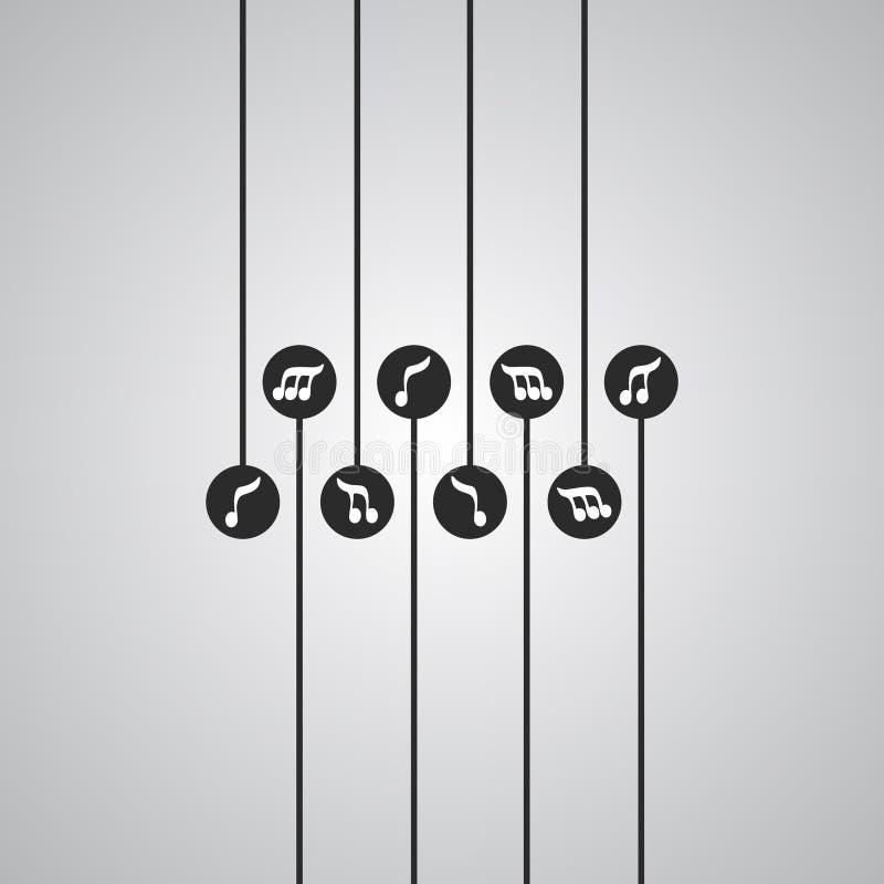 Papel de parede creativo da música ilustração do vetor