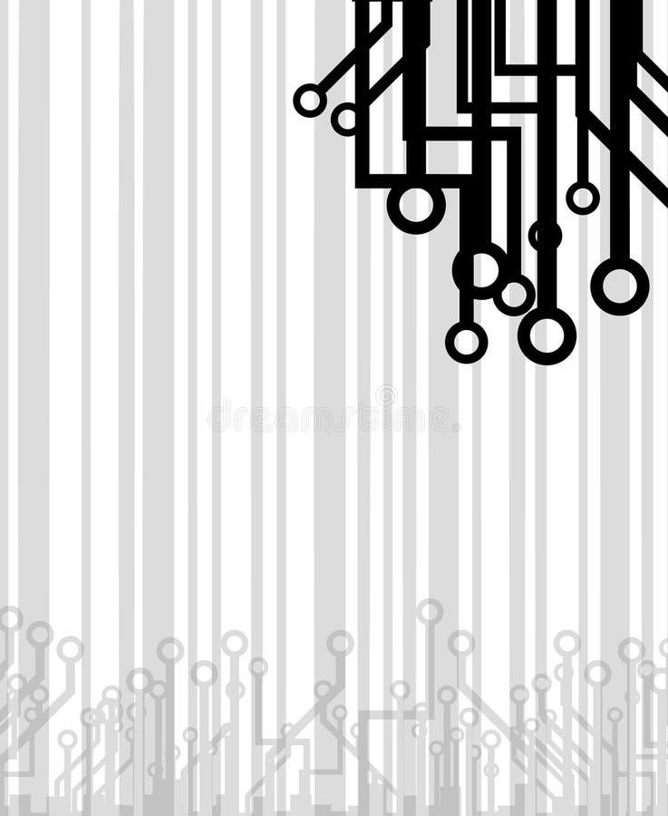 Papel de parede creativo da tecnologia ilustração royalty free