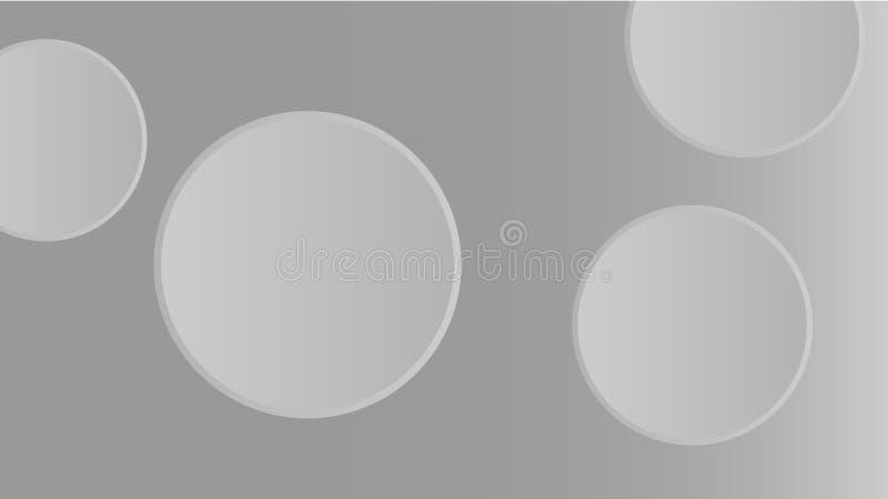 Papel de parede 3D abstrato cinzento | formas redondas ilustração royalty free